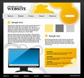 Website template 01. Easy to edit vector illustration.