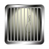 Jail window with a noose