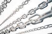 3d Illustration Metal Chains. Metal, Steel Chains Isolated On White Background. Metal Chains For Ind poster