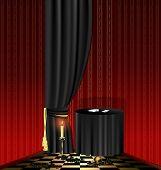 tabela preta na sala vermelha