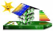 Concepto de ahorro de la energía de casa