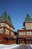 Moscow. The restored palace of Tsar Alexei Mikhailovich in the estate Kolomenskoe.