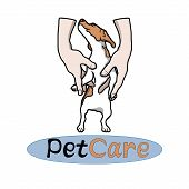 Pets Vector Logo (logo For Pet Clinic, Pet Shop, Animal Protection Organization) poster