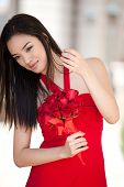 Pretty Girl In A Red Dress