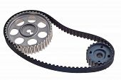 Timing Belt With The Two Gears