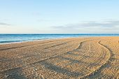Beach Waves And Blue Sky