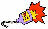 party popper cartoon (raster version)