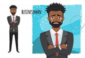 Crying Black African American Businessman. Negative Emotion Facial Expression Feeling. Businessman I poster