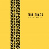 Dirt Track From The Car Wheel Protector. Tire Track Silhouette. Black Tire Track. Vector Illustratio poster