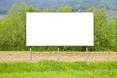Blank Commercial Advertising Billboard Immersed In A Rural Scene - Image With Copy Space poster