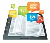 E-learning Concept - Electronic Book