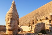 Nemrut mount, Turkey - Ancient stone heads representing the gods of the Kommagene kingdom