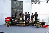 Presentation Of The Lotus Renault E20, 2012