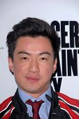 LOS ANGELES - NOV 27:  Johnny M Wu arrives at the 'Certainty' Los Angeles premiere at Laemmle Music