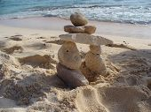 Inukshuk On Beach