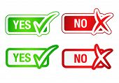 Yes & No Checkmarks Buttons