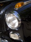 Headlight Of A Classic Car Mercedes