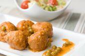 meat balls with vegetabl