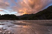 Sunset At Franz Josef Glacier