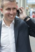 Businessman and  Mobile Phone