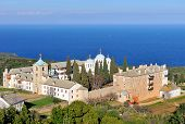 Greek Monastery on Mount Athos, Chalkidiki, Greece