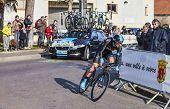 The Cyclist Lopez Garcia David- Paris Nice 2013 Prologue In Houilles