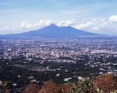 Mount Vesuvius, near Naples, Italy.