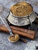 foto of garam masala  - Indian mix of ground spices garam masala - JPG