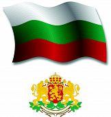 Bulgaria Textured Wavy Flag Vector