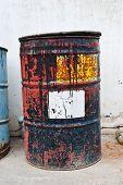 Old Rusty Oil Drum.