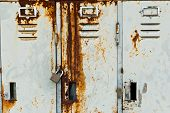 Old Metal Lockers Background.