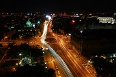 Bucharest city traffic in the night