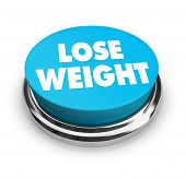 foto of bing  - A red button with the words Lose Weight on it - JPG