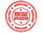 Mortgage Application-stamp