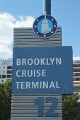 Brooklyn Cruise Terminal sign