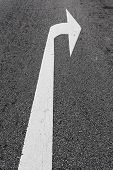 Arrow Direction On The Road