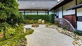 Rock garden at Shoren-in Temple in Kyoto