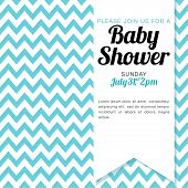 Baby Shower Invitation for a baby boy