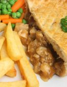 Chicken Pie And Chips