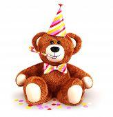3d teddy bear party