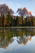 Autumn landscape at Cadini di Misurina, the Dolomites, Italy