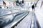 image of escalator  - Escalator in subway in an european city