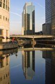 Urban Skyline Reflection