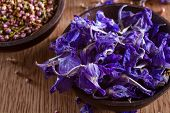 Dried Larkspur Petals