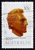 Postage Stamp Australia 1983 Paul Edmund De Strzelecki, Explorer