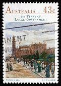 Postage Stamp Australia 1990 Town Hall, Adelaide
