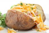 Baked Potato With Cheese & Ham