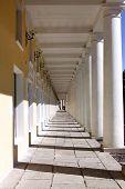Passageway With Columns