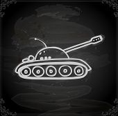 stock photo of panzer  - Cute Hand Drawn Vector illustration - JPG