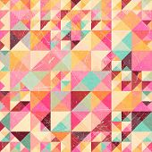 Triangle geometric retro pattern
